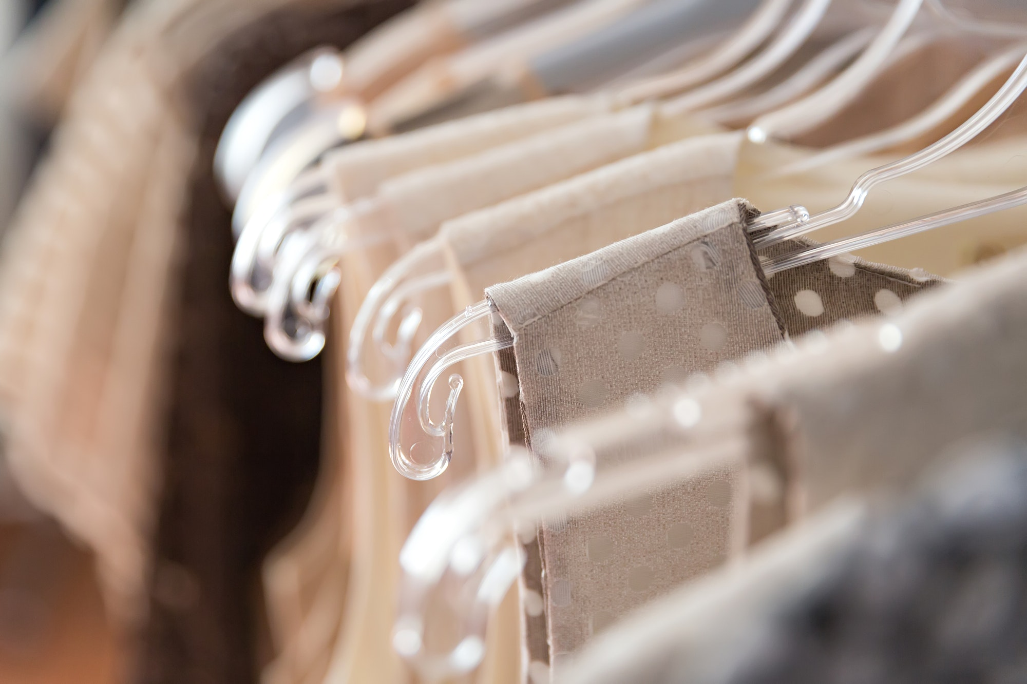 Clothes in a store